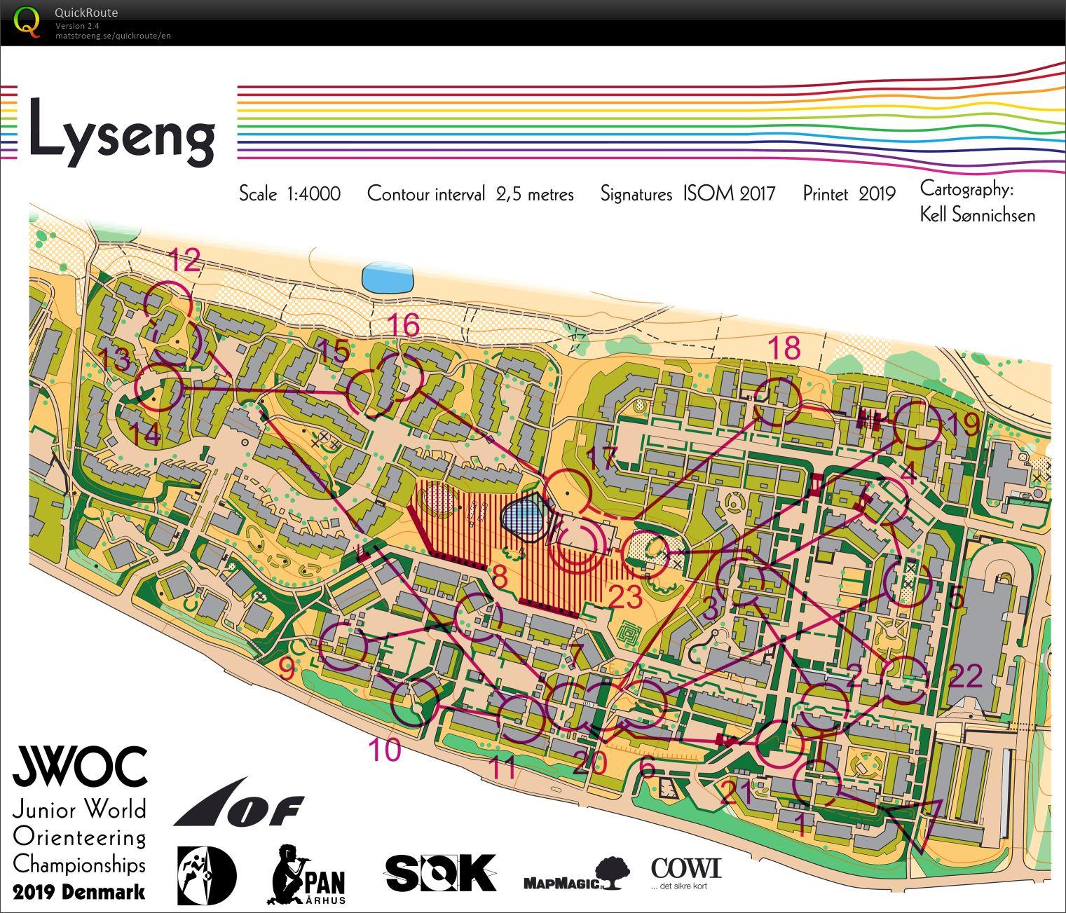 Jr Vm Sprint July 7th 2019 Orienteering Map From Elias Jonsson